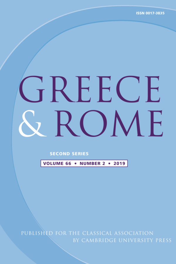 Front cover for Greece and Rome which features large text on light blue background